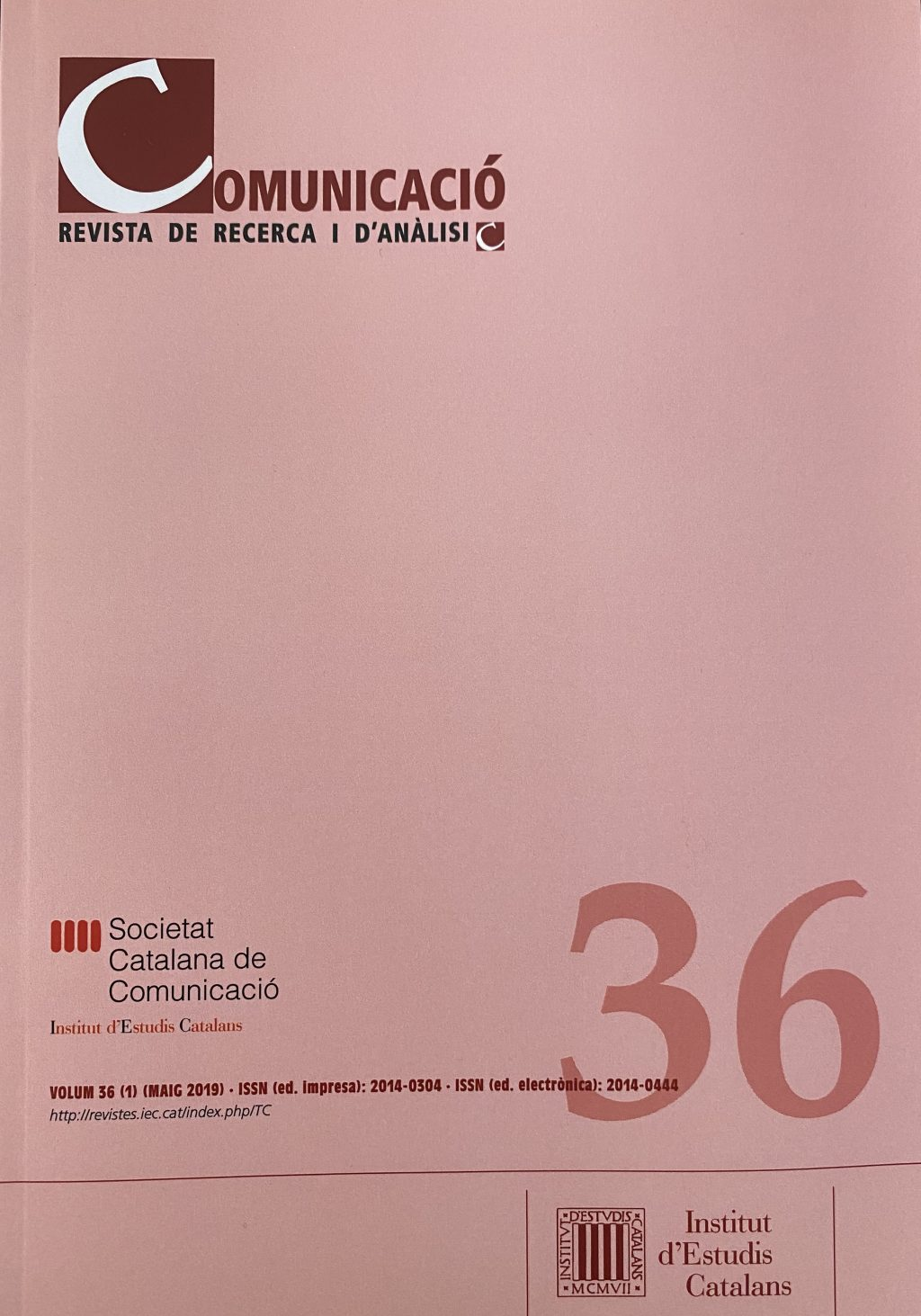 Comunicació. Revista de Recerca i d'Anàlisi [Societat Catalana de Comunicació]