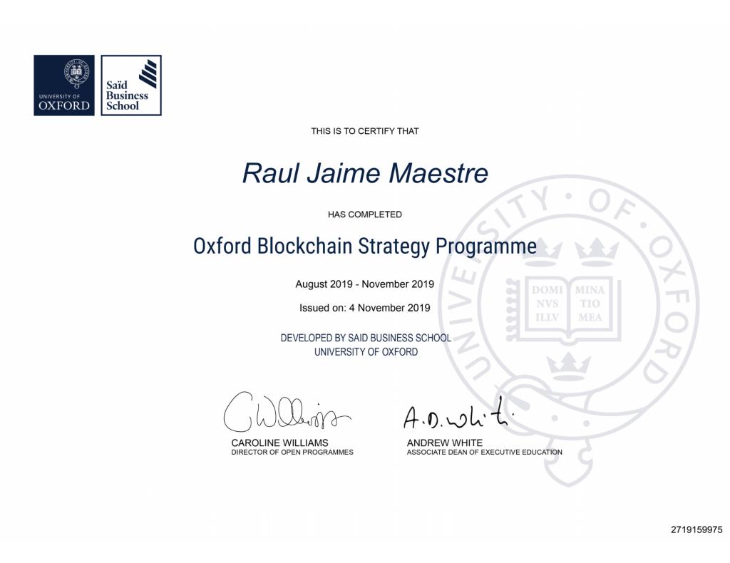 Título Oxford Blockchain Strategy Programme