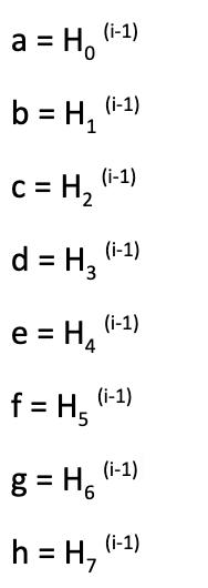 Valor de la función del hash